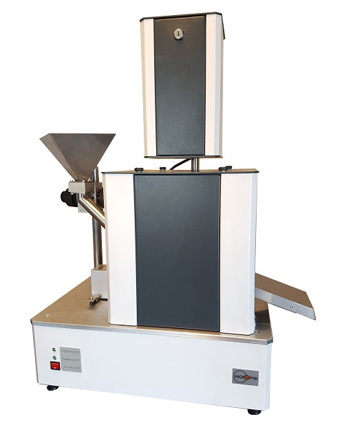 Contamination analyzer size and shape, contamination in granules powders and pallets