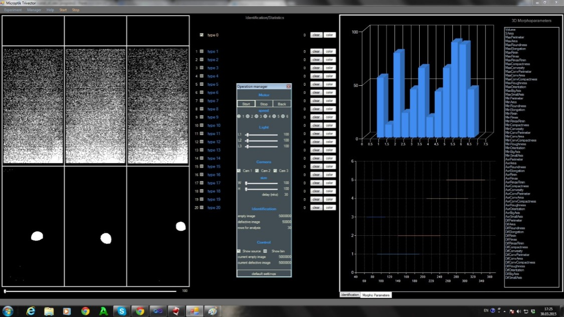 Syze and shape analyzer software of granules and powders
