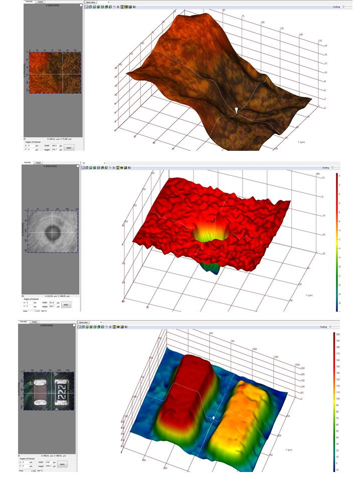 3D topography examples of Top-Eye 14S capability