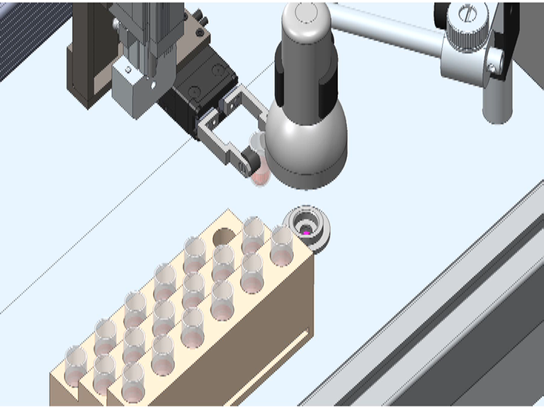 XRF, sample system robotic arm