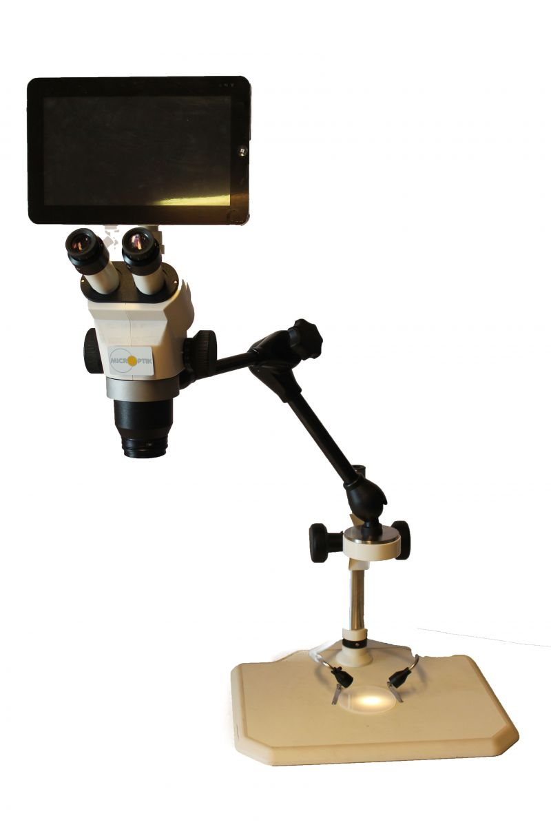 microptik microscope boom stand smart-eye pad